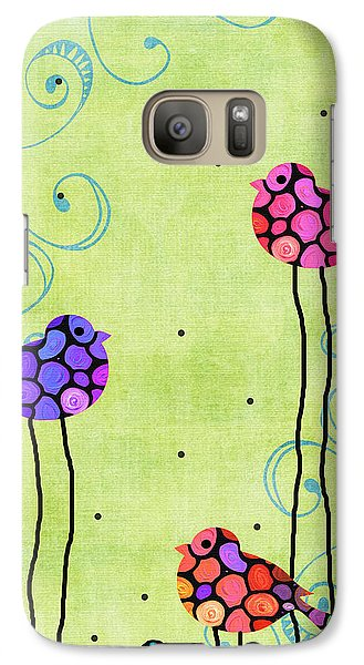 Three Birds - Spring Art By Sharon Cummings Galaxy S7 Case by Sharon Cummings