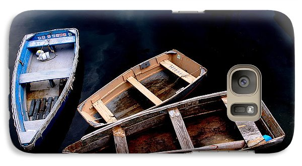 Galaxy Case featuring the photograph Three Boats In Rockport Mass by Jacqueline M Lewis