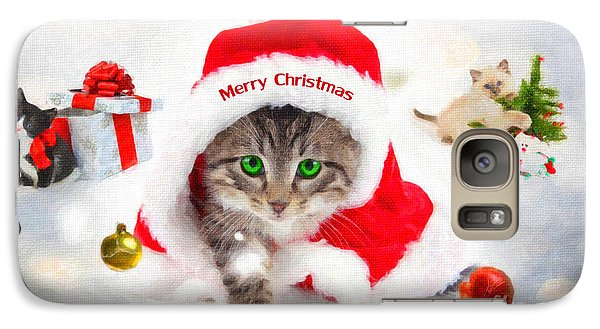 Galaxy Case featuring the photograph Three Christmas Kittens by Chris Armytage
