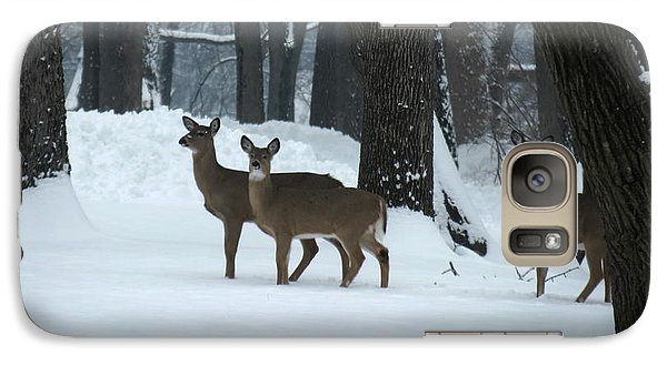 Galaxy Case featuring the photograph Three Deer In Park by Eric Switzer