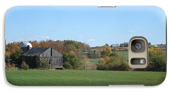 Galaxy Case featuring the photograph Three Farms In Autumn by Patricia Overmoyer