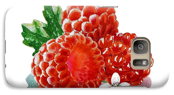 Three Happy Raspberries Galaxy S7 Case by Irina Sztukowski