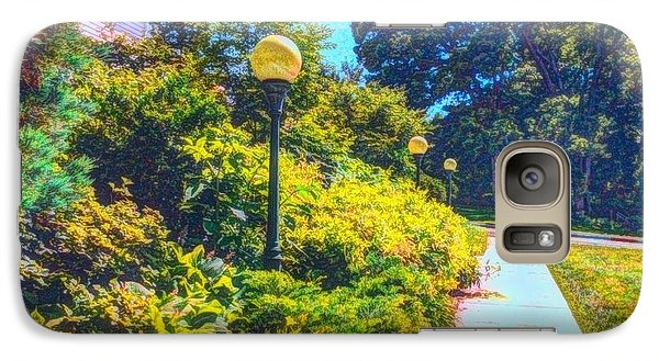 Galaxy Case featuring the photograph Three Lamp Posts by Becky Lupe