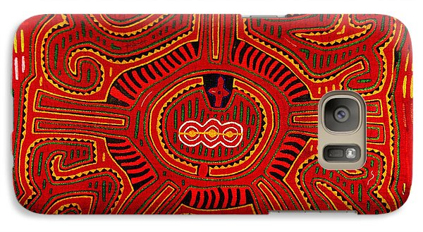 Galaxy Case featuring the digital art Three Layers Of The World by Vagabond Folk Art - Virginia Vivier