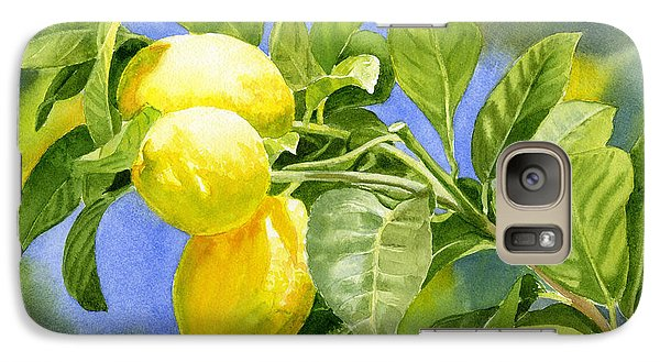 Three Lemons Galaxy Case by Sharon Freeman