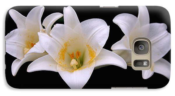 Galaxy Case featuring the photograph Three Lilies by Andy Lawless