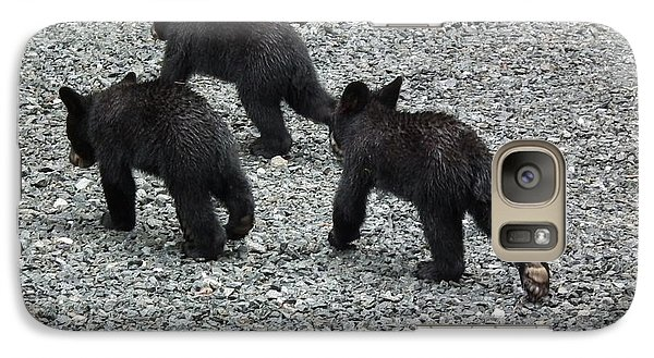 Galaxy Case featuring the photograph Three Little Bears In Step by Jan Dappen