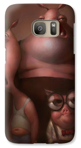 Three Little Pigs Galaxy S7 Case by Adam Ford