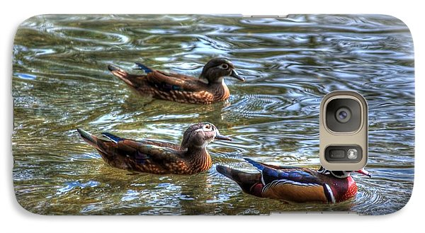 Galaxy Case featuring the photograph Three Mallard Ducks by Donald Williams