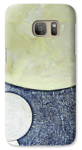 Galaxy Case featuring the painting Three Moons by Carolyn Goodridge