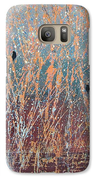 Galaxy Case featuring the painting Three Of A Kind by Suzanne Theis