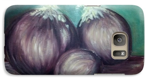 Galaxy Case featuring the painting Three Onions by Richard Benson
