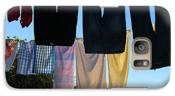 Galaxy Case featuring the photograph Three Pairs Of Jeans by Douglas Pike