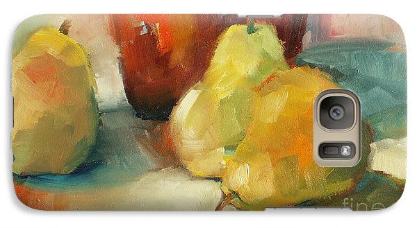 Galaxy Case featuring the painting Three Pears And A Pot by Michelle Abrams