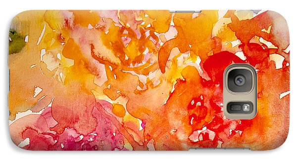 Galaxy Case featuring the painting Three Roses by Linde Townsend