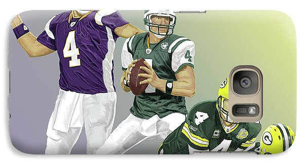 Galaxy Case featuring the digital art Three Stages Of Bret Favre by Thomas J Herring