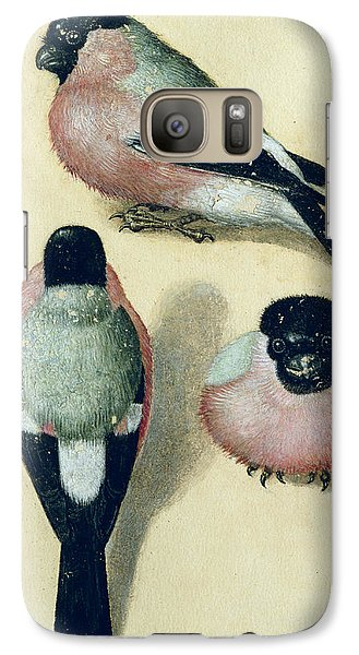 Three Studies Of A Bullfinch Galaxy S7 Case by Albrecht Durer