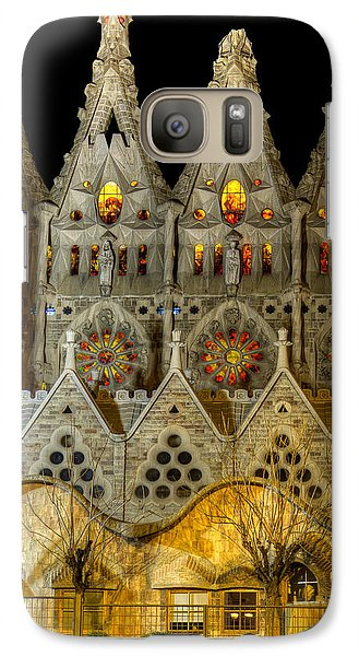 Three Tiers - Sagrada Familia At Night - Gaudi Galaxy S7 Case