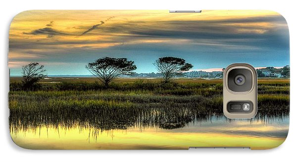 Galaxy Case featuring the photograph Three Tree Sunset by Ed Roberts