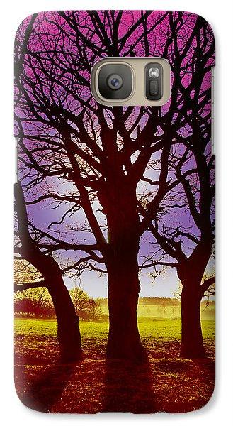 Galaxy Case featuring the digital art Three Trees by David Davies