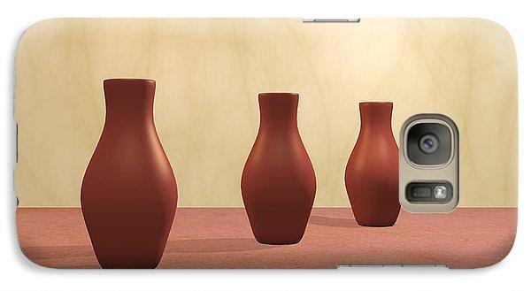 Galaxy Case featuring the digital art Three Vases by Gabiw Art