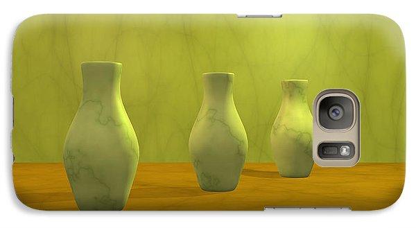 Galaxy Case featuring the digital art Three Vases II by Gabiw Art
