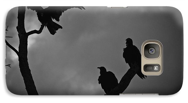 Galaxy Case featuring the photograph Three Vultures by Bradley R Youngberg