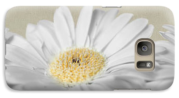 Galaxy Case featuring the photograph Three White Daisies by Eden Baed