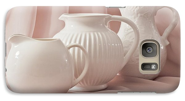 Galaxy Case featuring the photograph Three White Pitchers by Sandra Foster