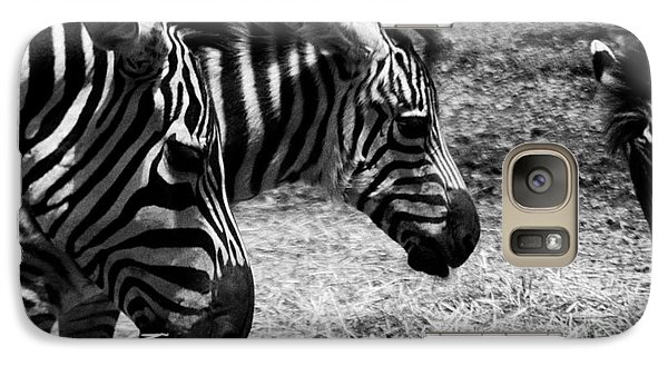 Galaxy Case featuring the photograph Three Zebras by Tom Brickhouse