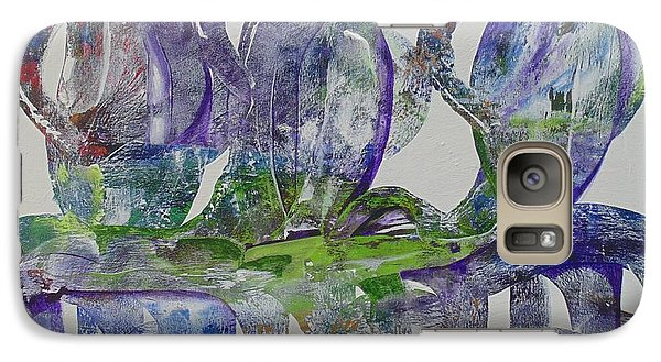 Galaxy Case featuring the painting Threefold Cord by Nereida Rodriguez