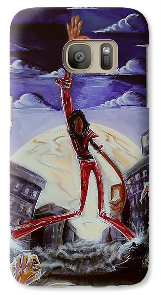 Galaxy Case featuring the painting 'thriller V3' by Tu-Kwon Thomas