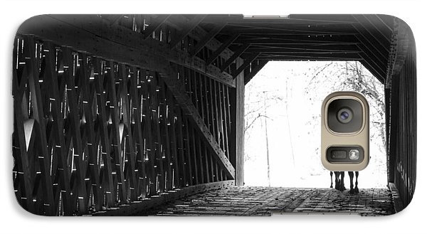 Galaxy Case featuring the photograph Through A Covered Bridge by Phil Abrams