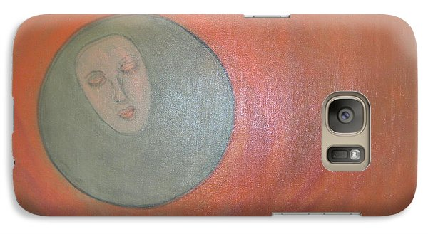 Galaxy Case featuring the painting Through A Mirror Darkly by Sharyn Winters