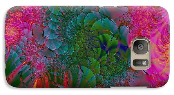 Galaxy Case featuring the digital art Through The Electric Garden by Elizabeth McTaggart