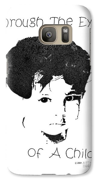 Galaxy Case featuring the drawing Through The Eyes Of A Child by Arthur Eggers