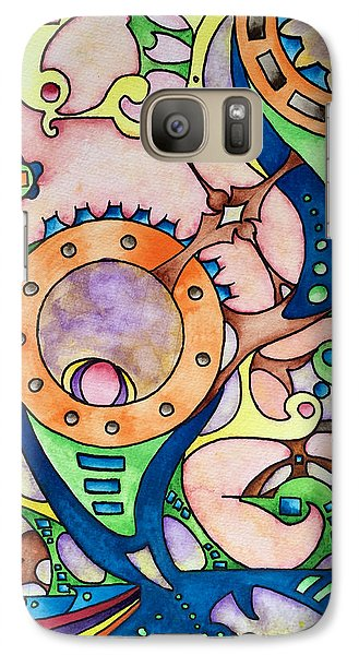 Galaxy Case featuring the painting Through The Mirror by Rebecca Davis