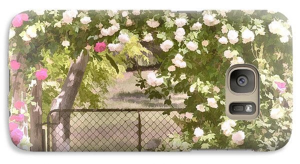 Galaxy Case featuring the photograph Through The Rose Arbor by Elaine Teague