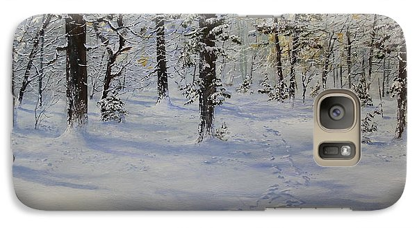 Galaxy Case featuring the painting Through The Snowy Woods by Ken Ahlering