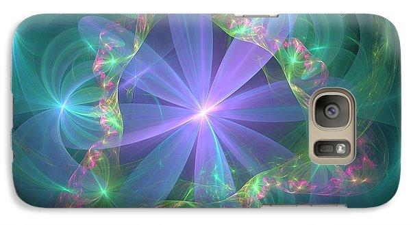 Galaxy Case featuring the digital art Through The Veil by Svetlana Nikolova