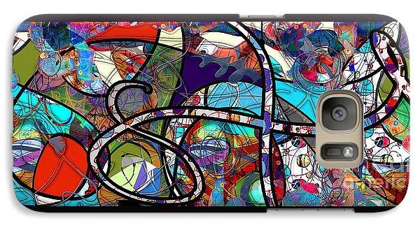 Galaxy Case featuring the digital art Through The Wormhole by Gabrielle Schertz