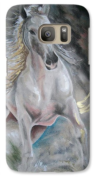 Galaxy Case featuring the mixed media Thrusting Out by Peter Suhocke