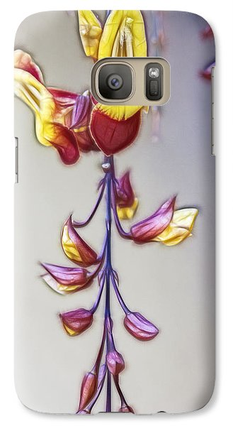 Galaxy Case featuring the digital art Thunbergia by Photographic Art by Russel Ray Photos