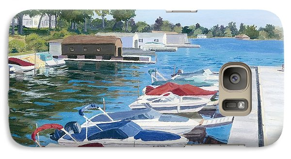 Galaxy Case featuring the painting T.i. Park Marina by Lynne Reichhart