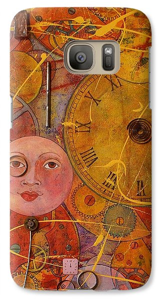 Galaxy Case featuring the painting Tic Toc by Jane Chesnut