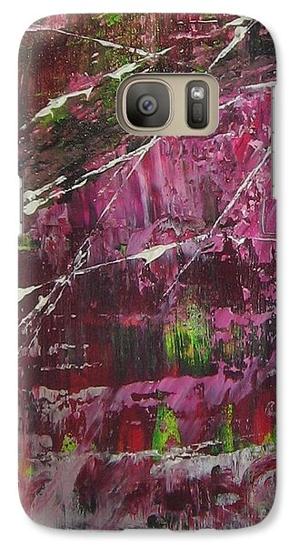 Galaxy Case featuring the painting Tickled Pink by Lucy Matta