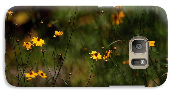 Galaxy Case featuring the photograph Tickseed Forest by Lorenzo Cassina