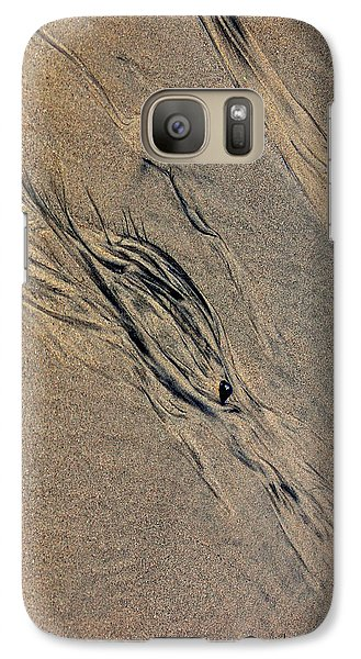 Galaxy Case featuring the photograph Tide Tracks by Irma BACKELANT GALLERIES