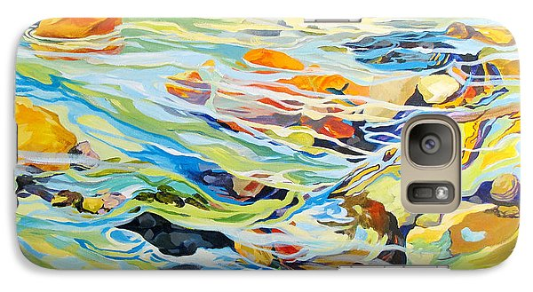 Galaxy Case featuring the painting Tidepool 2 by Rae Andrews