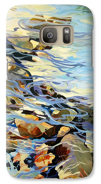 Galaxy Case featuring the painting Tidepool 3 by Rae Andrews